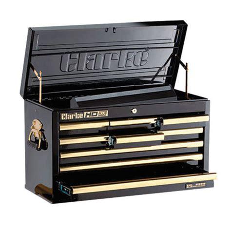 Tool Box Dresser Black by Clarke Cbb209bgb Hd Plus 9 Drawer Tool Chest Black Gold