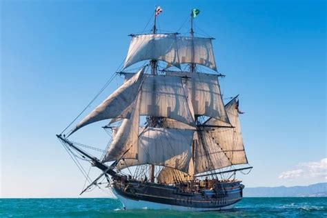 ship ships tall caribbean pirates lady washington sail sailing sails interceptor pearl into disney hms hawaiian horn harbor marina monterey