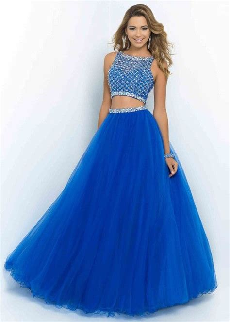 Fashion Cheap Sparkly Two Piece Beaded High Neck Brilliant ...