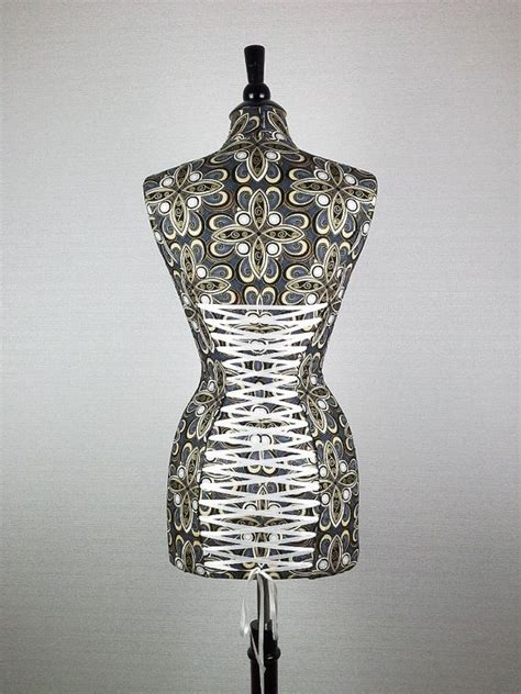 miss metallic plume decorative display mannequin dress
