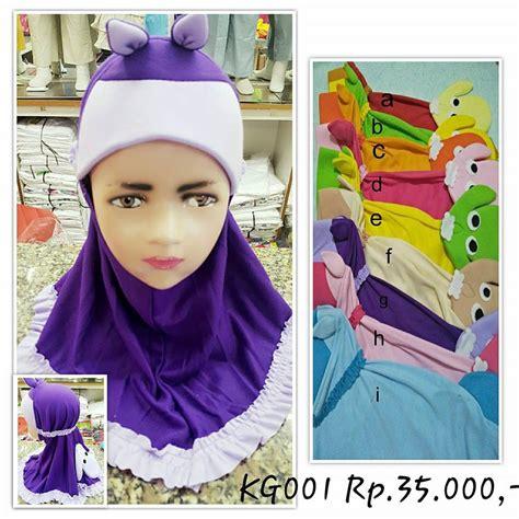 jual pashmina hijab anak kecil instan bagus lucu boneka