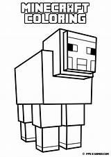 Minecraft Sword Coloring sketch template