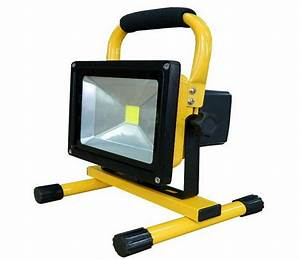 Battery powered portable floodlights : W battery powered floodlight outdoor led flood