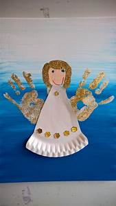 Basteln Winter Kindergarten : handabdruck engel mit pappteller kleid handprint angel with paperplate robe christmas ~ Eleganceandgraceweddings.com Haus und Dekorationen