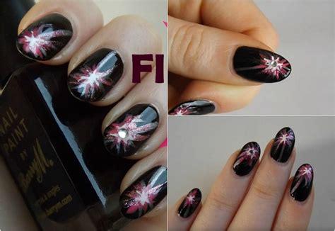 deco pour ongle a faire soi meme tuto nail de nouvel an 224 motif feu d artifice paillet 233