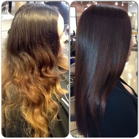 color before and after pictures fall makeover before and after picture color and cut by