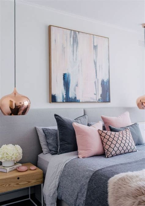 Bedroom Decor by Blush White And Grey Bedroom Inspiration