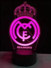 Real Madrid logo LOGO touch 3D colorful Nightlight lamp in ...