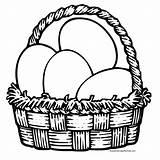 Easter Coloring Pages Basket Baskets Egg Colour sketch template