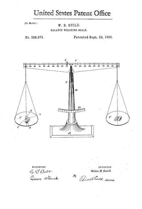 Scales (of Justice) Patent Print – Decor, Law Firm Decor
