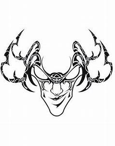 Tribal And Evil Mask Tattoo Design