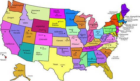 map of united states with capitals latest hd pictures
