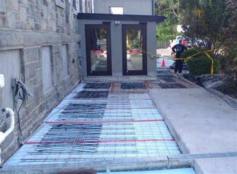 electric snow melting systems  concrete sidewalks