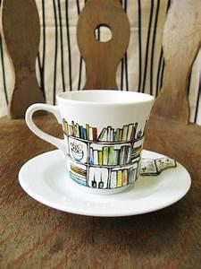 Porzellan Und Keramik : book club library mug mugshot pinterest porzellan bemalen porzellan und keramik bemalen ~ Markanthonyermac.com Haus und Dekorationen