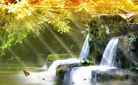 Animated Waterfall Wallpaper - waterfall wallpaper animated wallpaper animated