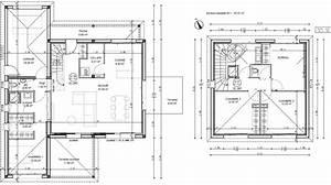 Plan Maison A Etage : plan maison carre etage ~ Melissatoandfro.com Idées de Décoration