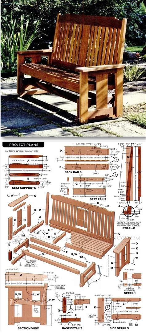 porch glider plans woodworking furniture plans outdoor