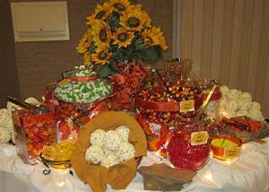 Leafy Tree Tops: Fall / Autumn Themed Candy Buffet