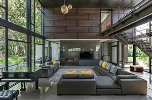Industrial Modern House Boasts A Serene Lakeside Setting