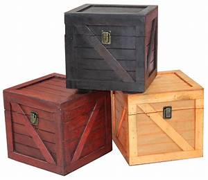 Wooden, Stackable, Lidded, Crate