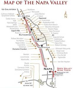 Napa Valley Wineries Map