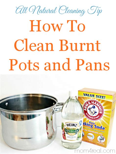 pots clean pans cleaning vinegar natural way burned remove tips burn smell towels ease