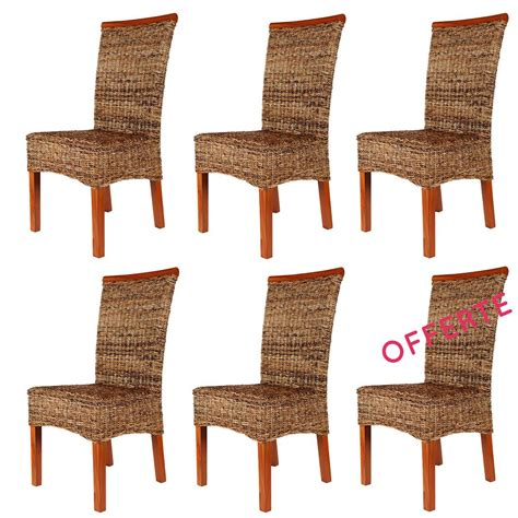 Chaise Abaca by Lot 6 Chaises En Abaca Malibu Chaise Exotique Lot