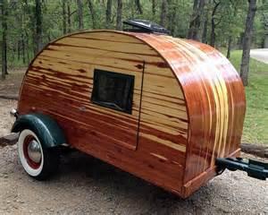 Wooden Teardrop Trailer Camper