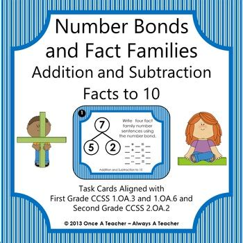 number bonds  fact families addition  subtraction