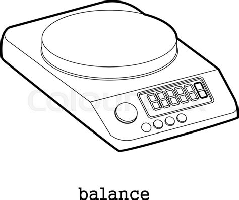 Weighing Boat Drawing by Weighing Scale Drawing At Getdrawings Free For