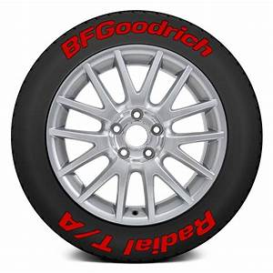 tire stickersr quotbf goodrich radial t aquot tire lettering kit With bfgoodrich red letter tires