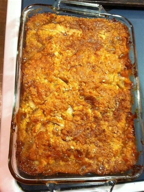 caramel apple cobbler recipe desserts canned apple