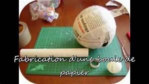 Boule En Papier : fabrication boule de papier youtube ~ Teatrodelosmanantiales.com Idées de Décoration