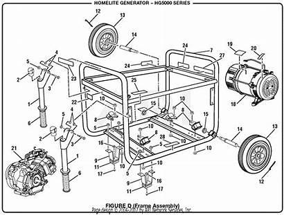 Generator Homelite 5000 Watt Series Parts Diagram