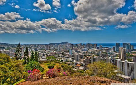 Panoramic View Of Honolulu Hawaii Hdr : Wallpapers13.com