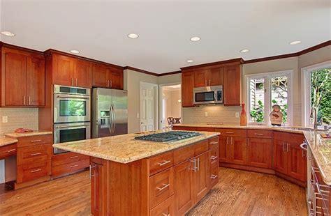 cherry kitchen cabinets american cherry shaker pius kitchen bath
