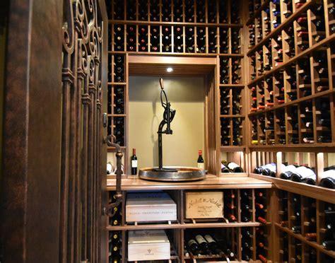 Small Custom Closet Walk In Wine Cellar With Decanting