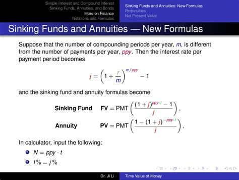 sinking fund formula calculator time value of money