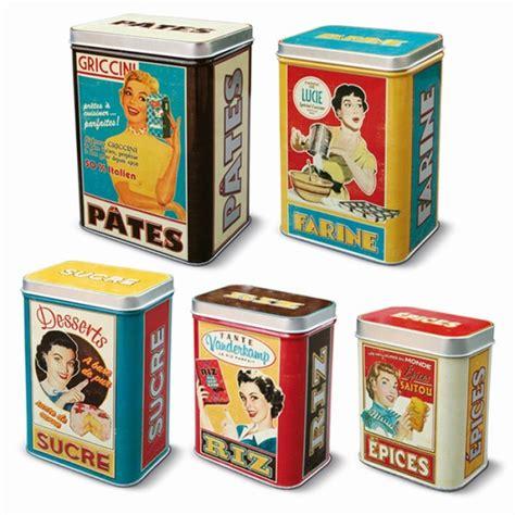 boite cuisine vintage natives la gamme accessoires de cuisine set de 5 boites métal housewi