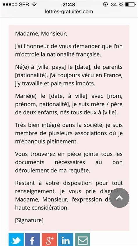 bureau de nationalité française exemple lettre de motivation nationalite