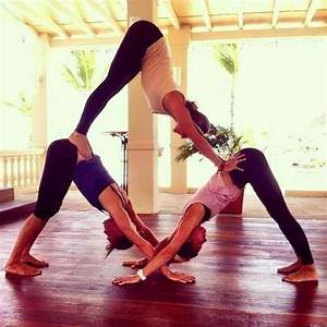 Lol Yoga Triangle .. Three People Needed .. Is good to do ...