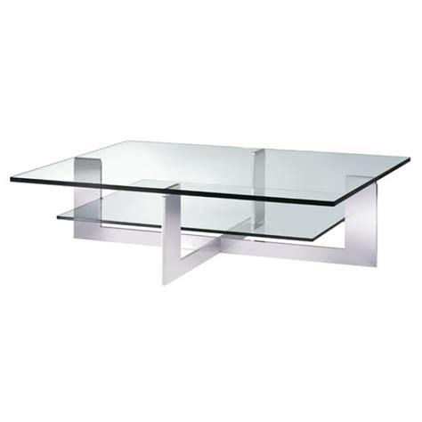 Square Glass Chrome Coffee Table