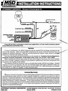 Msd 8350 Wiring Diagram