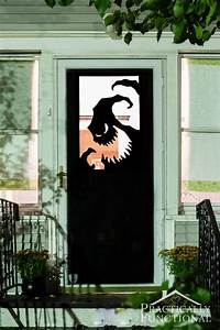 Diy vinyl halloween door decorations for Diy halloween door decorations