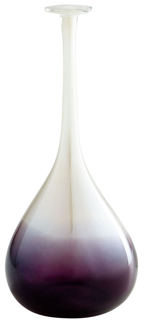 Large Clear Vase by Curie Purple And Clear Large Vase From Cyan Design 7341