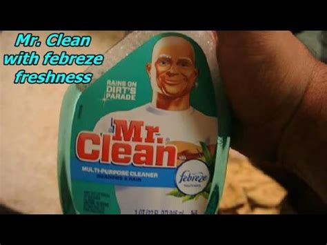 Mr Clean With Febreze Product Review Youtube