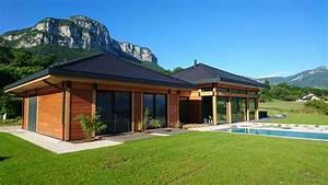 Maison Architecte Plain Pied : maison bois contemporaine plain pied dicky ~ Melissatoandfro.com Idées de Décoration