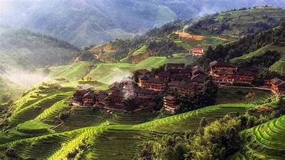 China Yangshuo Village Mountain County Tian Town