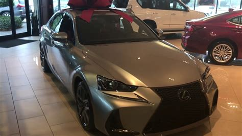 silver lexus 2017 2017 lexus is new refresh f sport atomic silver youtube