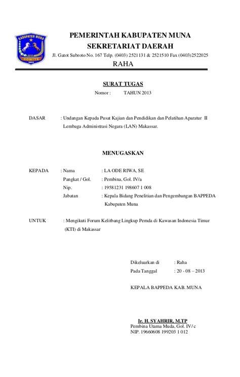 Contoh Surat Tugas Perjalanan Dinas by Contoh Surat Perintah Perjalanan Dinas Perusahaan Swasta
